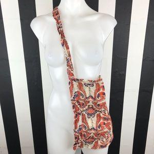 5 for $25 Free People Orange Paisley Hobo Bag